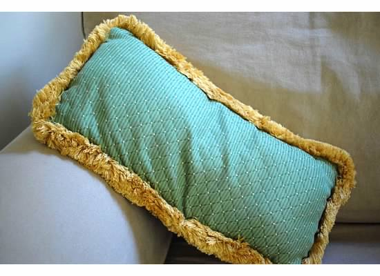 Small Green Decorative Pillow : Small Green and Plaid Throw Pillow - picner.com